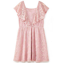 Buy Yumi Girl Metallic Antique Lace Dress, Dusty Pink Online at johnlewis.com