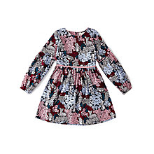 Buy Yumi Girl Clustered Woodland Print Dress, Red/Multi Online at johnlewis.com