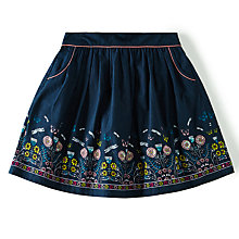 Buy Yumi Girl Linear Wildlife Floral Skirt, Navy Online at johnlewis.com