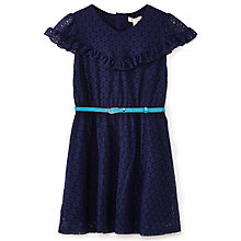 Buy Yumi Girl Lace Ruffle Dress, Navy Online at johnlewis.com