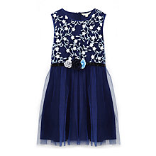 Buy Yumi Girl Icy Floral Embroidered Prom Dress, Navy Online at johnlewis.com