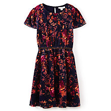Buy Yumi Girl Lace Frill Sleeve Dress, Navy Online at johnlewis.com