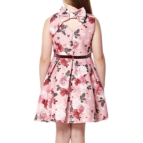 Buy Yumi Girl Lock and Key Jacquard Dress, Dusty Pink Online at johnlewis.com