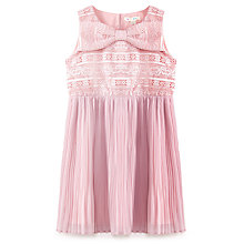 Buy Yumi Girl Lace Bow Dress, Dusty Pink Online at johnlewis.com