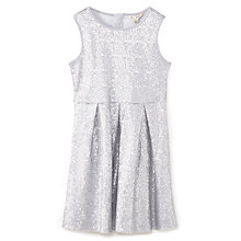Buy Yumi Girl Two Tone Sequin Dress, Silver Online at johnlewis.com