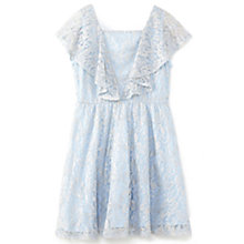 Buy Yumi Girl Metallic Antique Lace Dress, Sky Blue Online at johnlewis.com