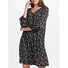 Buy Collection WEEKEND by John Lewis Mono Floral Print Dress, Black/Grey Online at johnlewis.com