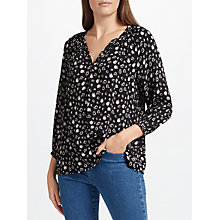 Buy Collection WEEKEND by John Lewis Mono Floral Top, Black/Grey Online at johnlewis.com