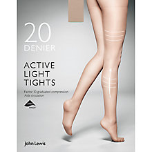 Buy John Lewis 20 Denier Firm Support Active Light Sheer Tights Online at johnlewis.com