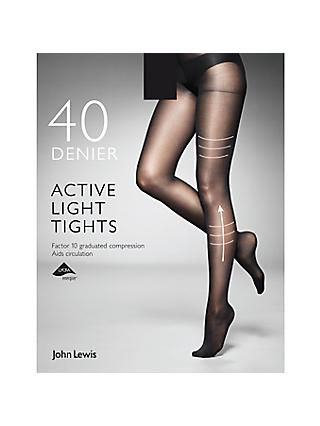 8b4052ffc John Lewis   Partners 40 Denier Firm Support Active Light Opaque Tights