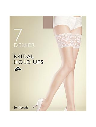 John Lewis & Partners 7 Denier Bridal Hold Ups