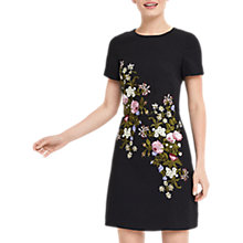 Buy Oasis Spring Embroidered Dress, Multi/Black Online at johnlewis.com