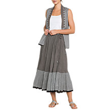 Buy East Amy Crinkle Skirt, Grey/Black Online at johnlewis.com