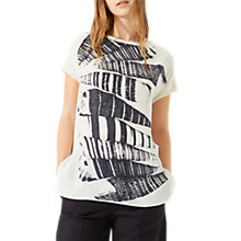 Buy Jigsaw Cerith Shell Print Silk Front Top, Ivory Online at johnlewis.com