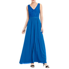 Buy Oasis Lace Bodice Maxi Dress, Cobalt Blue Online at johnlewis.com