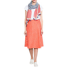 Buy East Linen Spot Print Skirt, Calypso Online at johnlewis.com