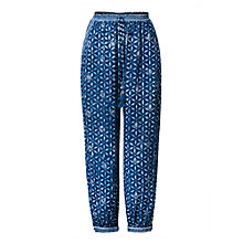 Buy East Anokhi Snowflake Print Harem Trousers, Indigo Online at johnlewis.com