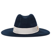 Buy French Connection Roxanne Brushed Wool Fedora Hat, Nocturnal/Cream Online at johnlewis.com