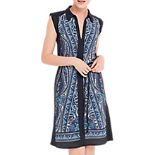 Buy Oasis Christy Paisley Shirt Dress, Multi/Blue Online at johnlewis.com