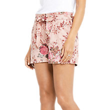Buy Oasis Washed Rose Cotton-Linen Shorts, Pink/Multi Online at johnlewis.com