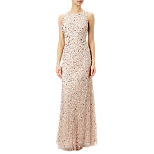 Buy Adrianna Papell Sleeveless Beaded Gown, Blush Online at johnlewis.com