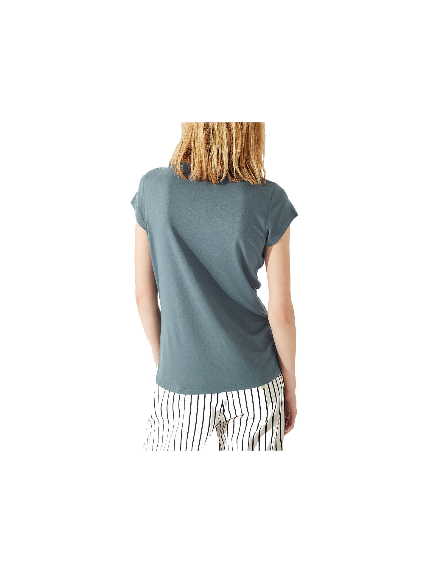 Buy Jigsaw Pima Cotton Blend T-Shirt, Sea Green, XS Online at johnlewis.com