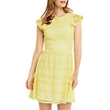 Buy Oasis Lace Skater Dress, Mid Yellow Online at johnlewis.com