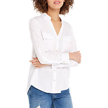 Buy Oasis Wrap Back Shirt, White Online at johnlewis.com