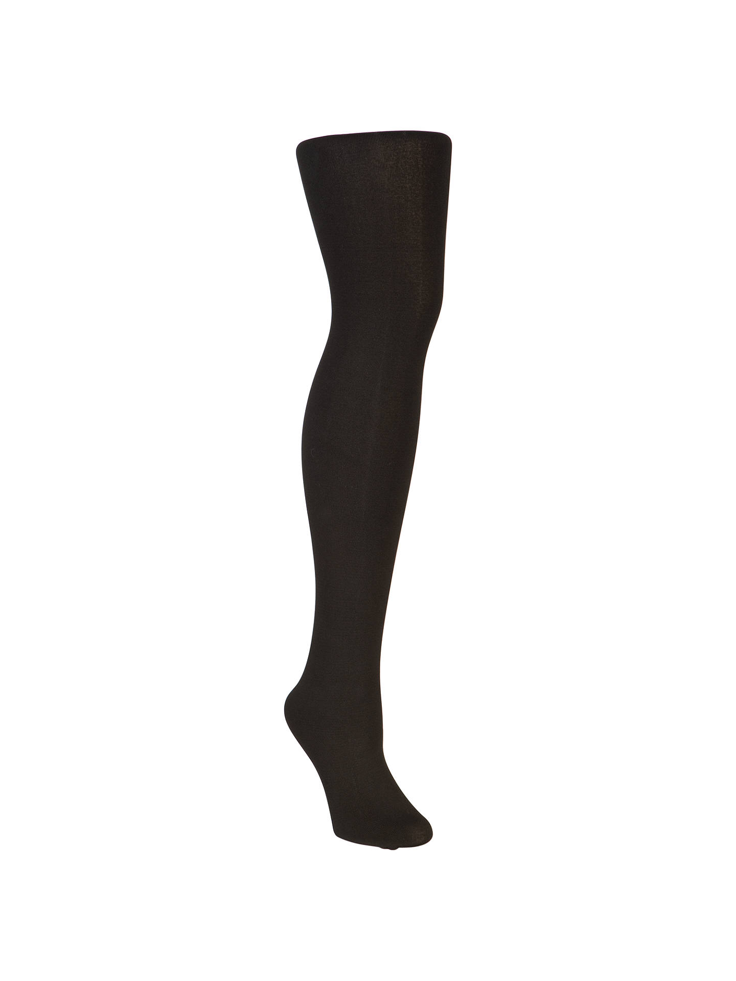 BuyJohn Lewis & Partners 150 Denier Polar Fleece Opaque Thermal Tights, Black, S-M Online at johnlewis.com