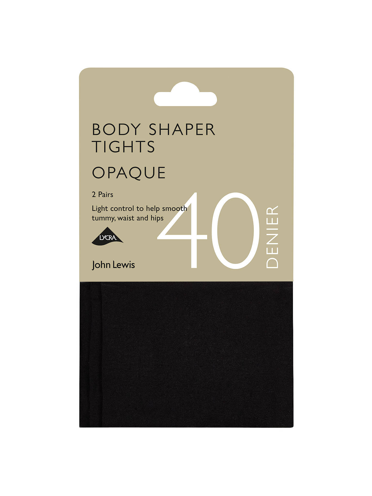 fcea685bc Buy John Lewis   Partners 40 Denier Bodyshaper Opaque Tights