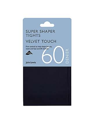 John Lewis & Partners 60 Denier Super Bodyshaper Velvet Touch Opaque Tights