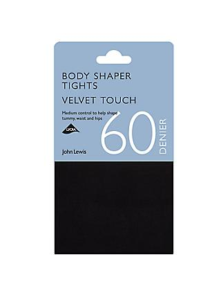 John Lewis & Partners 60 Denier Velvet Touch Body Shaper Opaque Tights