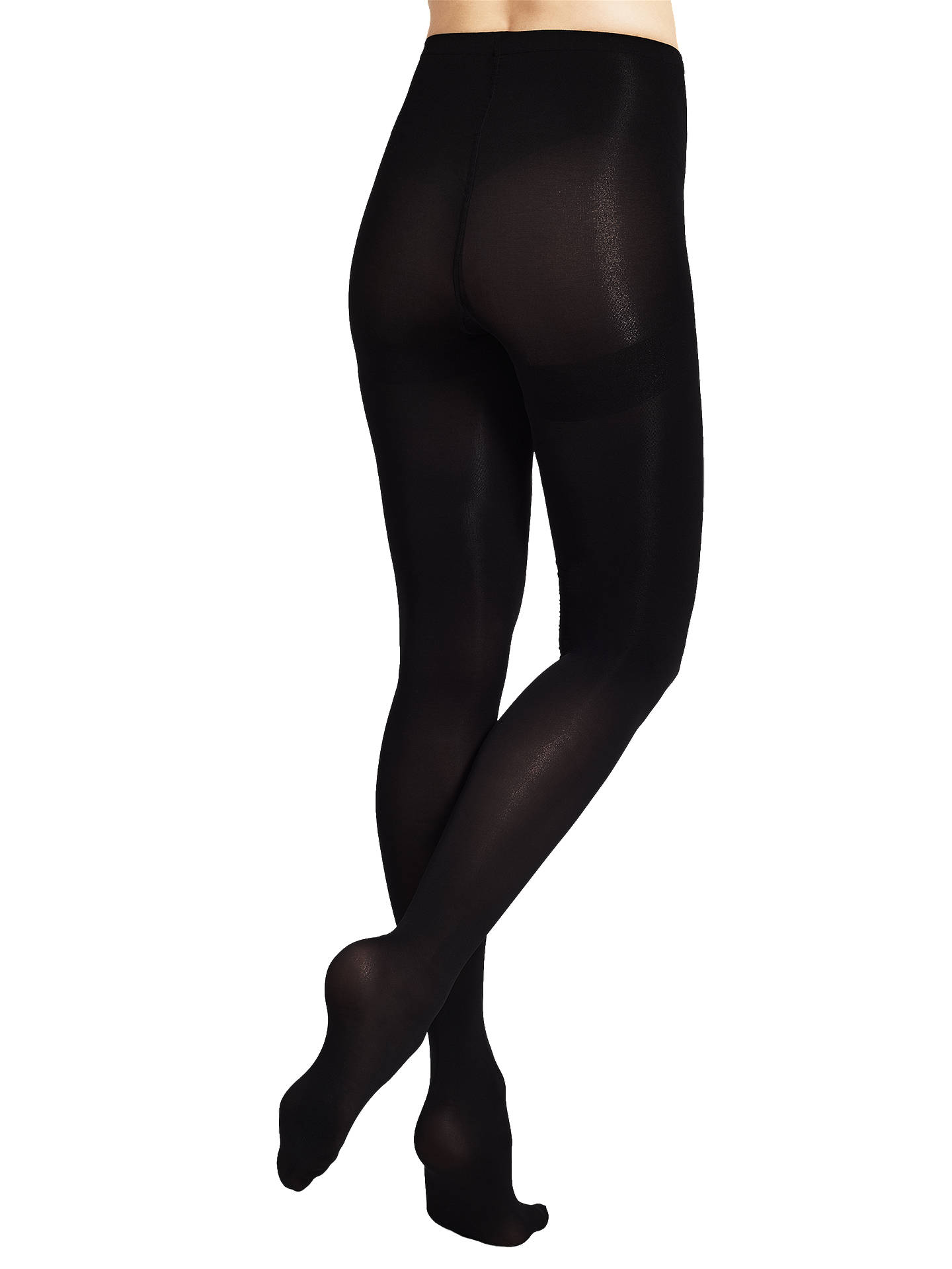 Buy John Lewis & Partners 60 Denier Velvet Touch Body Shaper Opaque Tights, Black, L Online at johnlewis.com