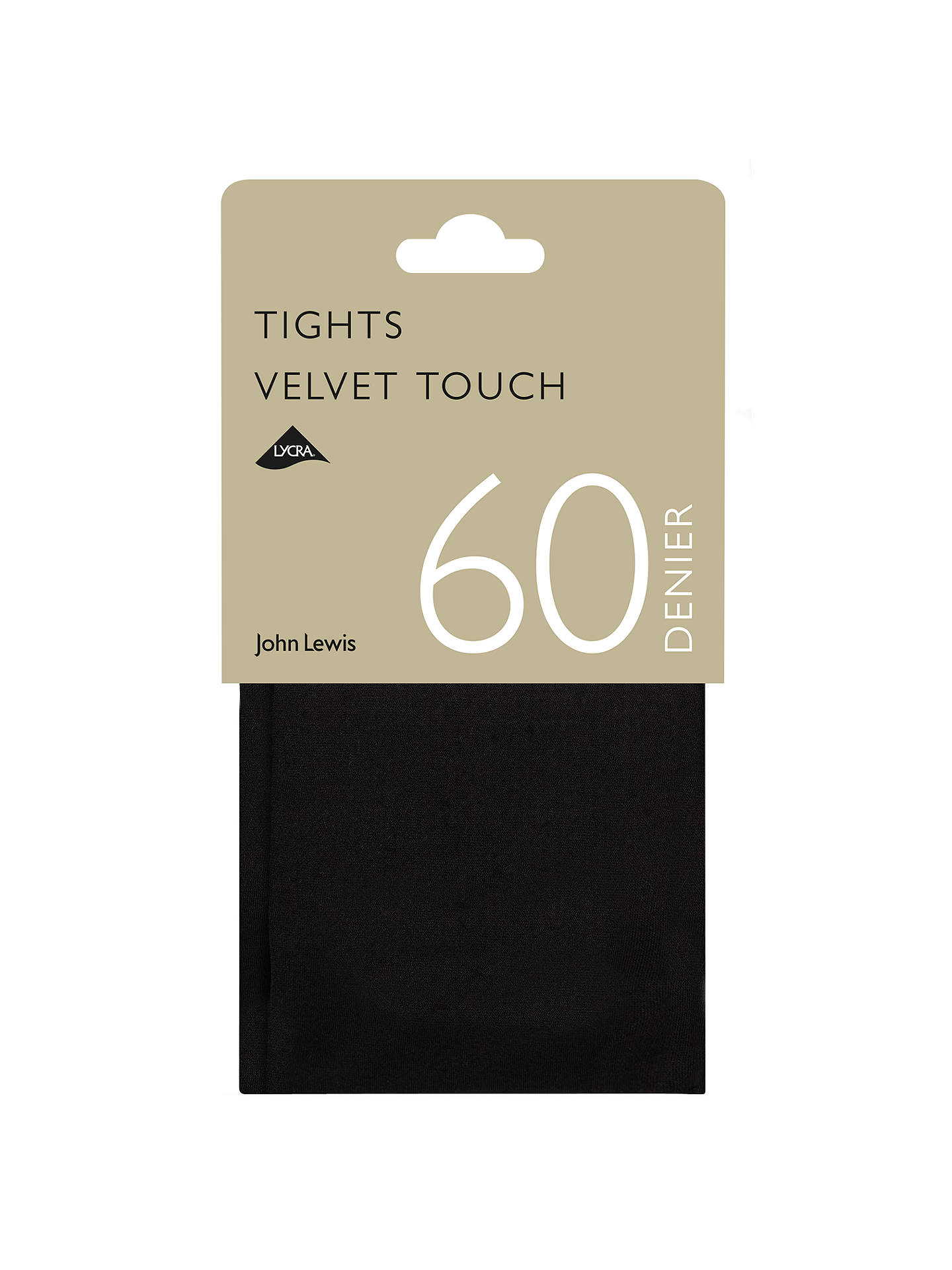 6ccb1f4bdf621 Buy John Lewis & Partners 60 Denier Velvet Touch Opaque Tights, Black, S  Online ...