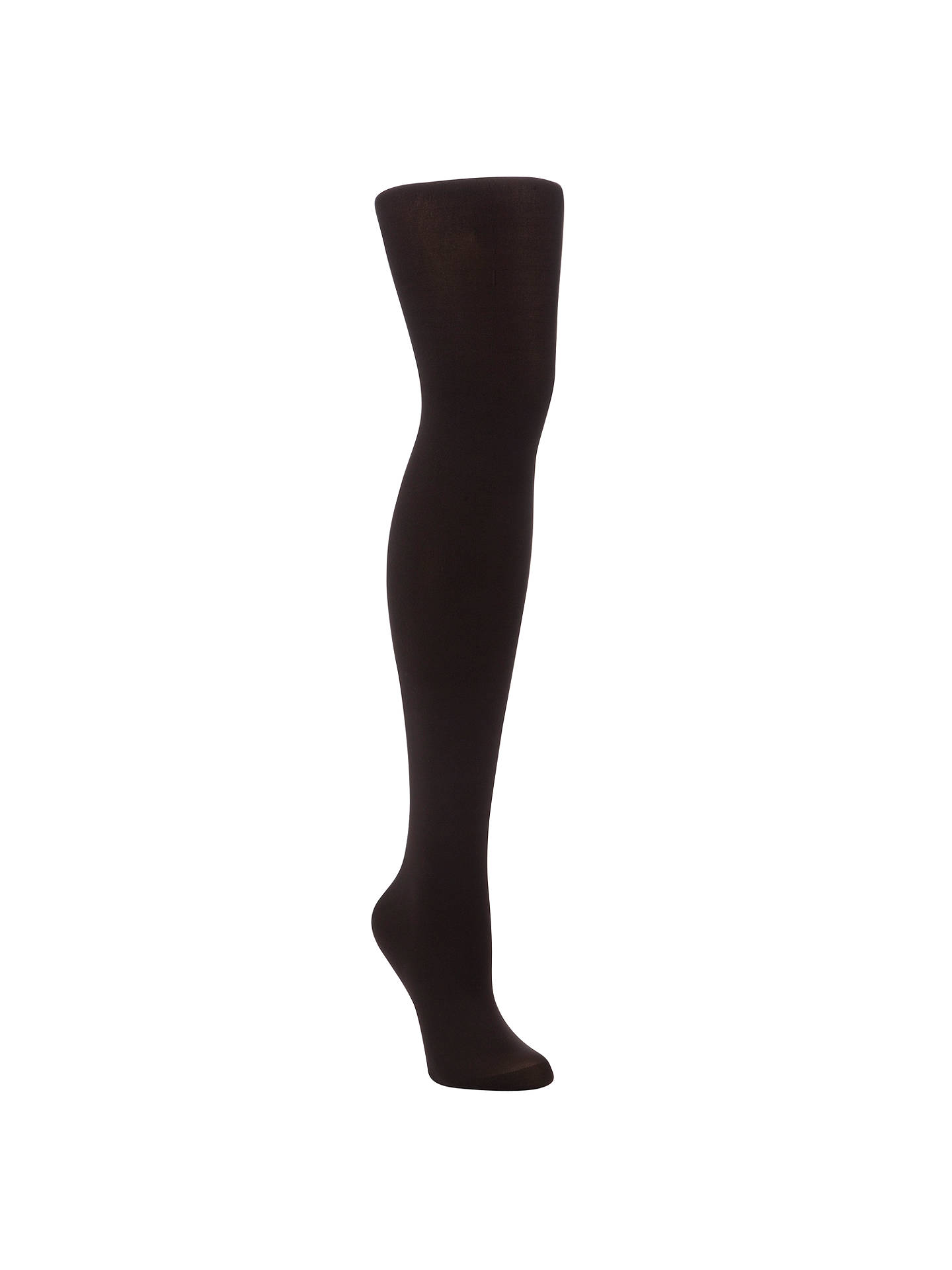Buy John Lewis & Partners 60 Denier Velvet Touch Opaque Tights, Brown, S Online at johnlewis.com