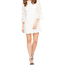 Buy Miss Selfridge Petite Schiffley Dress, Ivory Online at johnlewis.com