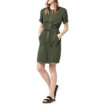 Buy Warehouse Utility Dress, Khaki Online at johnlewis.com