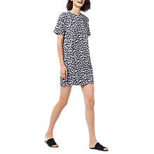 Buy Warehouse Animal Print Pocket Dress, Navy Online at johnlewis.com