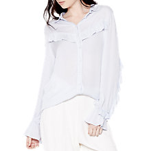 Buy Ghost Lena Blouse, Pearl Grey Online at johnlewis.com