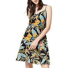 Buy Warehouse Tropical Garden Cami Dress, Black Online at johnlewis.com