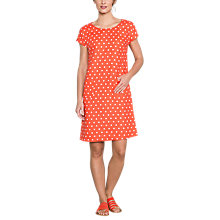 Buy East Linen Spot Pocket Shift Dress, Calypso Online at johnlewis.com