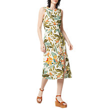 Buy WarehouseTropical Garden Tie Back Dress, Neutral Print Online at johnlewis.com