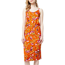 Buy Warehouse Climbing Azalea Cami Dress, Orange/Multi Online at johnlewis.com