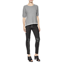 Buy French Connection Effie Short Sleeve Textured Jumper, Grey Mel/Multi Online at johnlewis.com