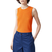 Buy Warehouse Sleeveless Ribbed Top, Orange Online at johnlewis.com