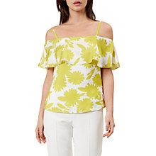Buy Hobbs Cleo Bardot Top, Ivory/Lemondrop Online at johnlewis.com