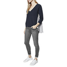 Buy French Connection Effie V-Neck Textured Jumper, Nocturnal/Multi Online at johnlewis.com