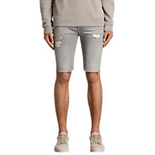 Buy AllSaints Gilroy Switch Denim Shorts, Grey Online at johnlewis.com