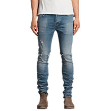 Buy AllSaints Dak Cigarette Skinny Jeans, Indigo Blue Online at johnlewis.com