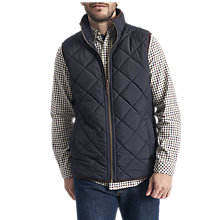 Buy Joules Bradwell Quilted Gilet, Marine Navy Online at johnlewis.com